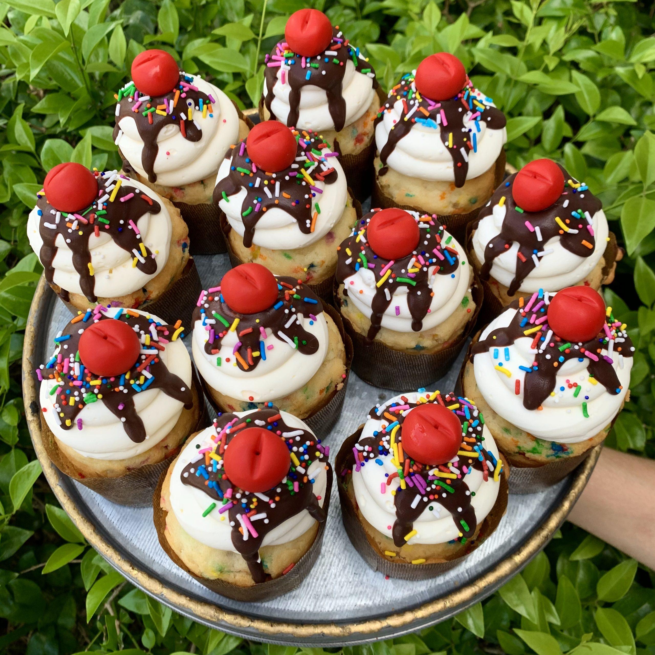 Week 4: Sundae Cupcake Baking & Decorating