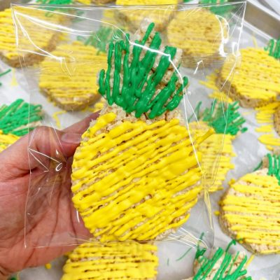 Pineapple Rice Crispy Treats